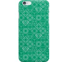 Diamond Gem Shape Outline GREEN iPhone Case/Skin