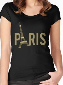 Paris Eiffel Tower Women's Fitted Scoop T-Shirt