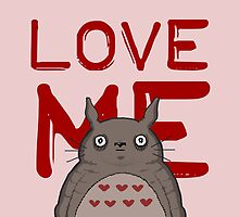 Valentine's Totoro by FireflyMoon