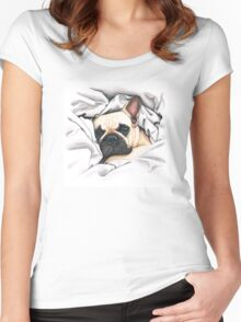 french bulldog - @MiudaFrenchie Women's Fitted Scoop T-Shirt