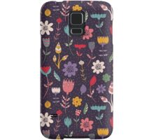 Colorful Abstract Floral Pattern Samsung Galaxy Case/Skin