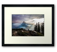 Half Dome in a Haze Framed Print