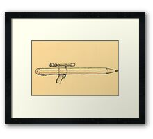 Pen and weapon Framed Print