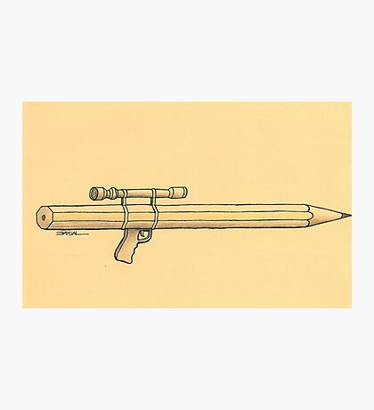 Pen and weapon Photographic Print