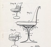 Eero Saarinen - Tulip Arm Chair - Patent Artwork by fascinatingly