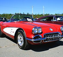 1960 Little Red Corvette by HALIFAXPHOTO