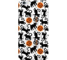 Happy Halloween with black cats iPhone Case/Skin