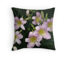 Delicate DayLilies Throw Pillow