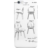 Charles Eames - Molded Plywood Lounge Chair - Patent Artwork iPhone Case/Skin