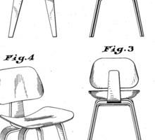 Charles Eames - Molded Plywood Lounge Chair - Patent Artwork Sticker