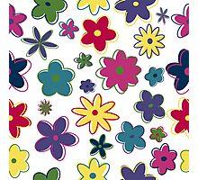 Retro flowers Photographic Print