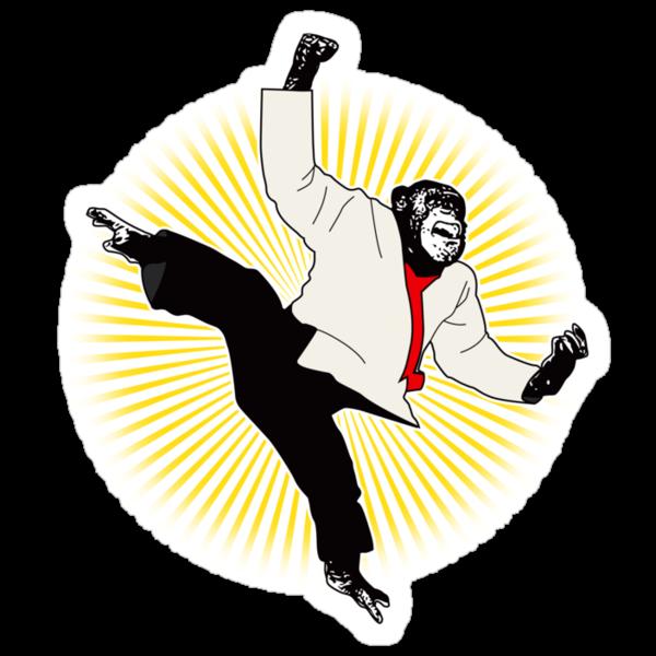 Karate Chimp by Rossman72