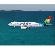 Air Seychelles Airbus A320 Photographic Print