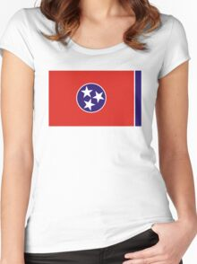 tennessee state flag Women's Fitted Scoop T-Shirt