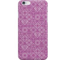 Diamond Gem Shape Outline LIGHT PURPLE iPhone Case/Skin