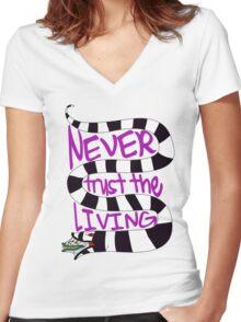 The Living  Women's Fitted V-Neck T-Shirt