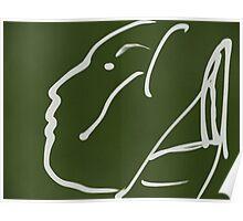Abstact Female Head -(060914)- Digital artwork/iPad: Zen Brush App Poster