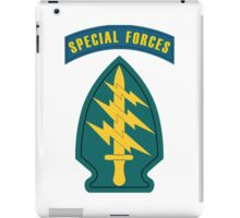 Army Special Forces Insignia W/Special Forces Tab iPad Case/Skin
