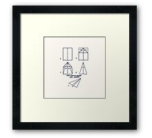 Paper Airplane 96 Framed Print