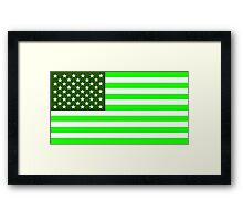 usa green flag Framed Print