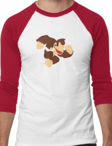 Donkey Kong w/ Color Tie Men's Baseball ¾ T-Shirt