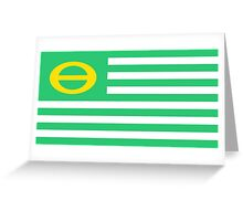 us ecology flag Greeting Card