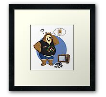 Gamer bear Framed Print