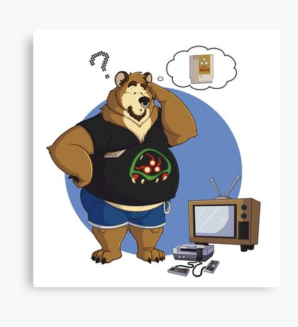 Gamer bear Canvas Print