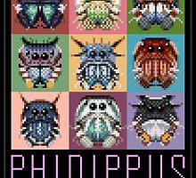Phidippus Portraits - Pixel Art Spider Poster - Thomas Shahan by Thomas Shahan