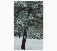 Frosted Pine dedicated to finding winter beauty Kids Tee