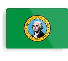 Washington Flag Metal Print
