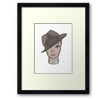 head in hat Framed Print
