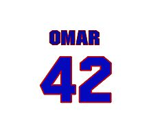 National baseball player Omar Vizquel jersey 42 Photographic Print
