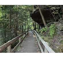 Rock overhang at Mill Creek Park Photographic Print