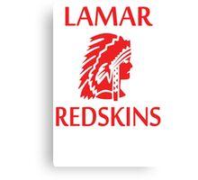 Lamar Redskins Canvas Print