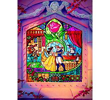 Beauty & The Beast Glass Art Photographic Print