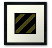 3rd Infantry Division - Subdued Framed Print