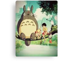 "My Neighbor Totoro ""Family Photo"" Canvas Print"