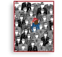 Agent Carter-A pop of Color Canvas Print