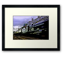 Express Steam Framed Print