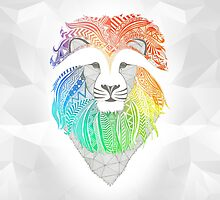 Lion multicolor by artetbe