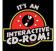It's An Interactive CD-ROM Jurassic Park Photographic Print