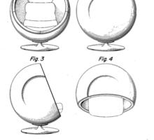 Eero Aarnio - Ball Chair - Patent Artwork Sticker