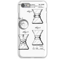 Chemex Coffee Maker - Original Patent Artwork iPhone Case/Skin