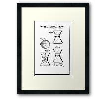 Chemex Coffee Maker - Original Patent Artwork Framed Print