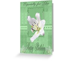 lily green card Greeting Card