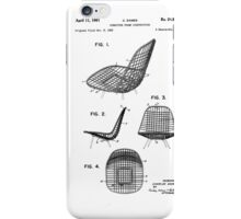 Eames - Wire Chair - Patent Artwork iPhone Case/Skin