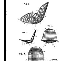 Eames - Wire Chair - Patent Artwork by fascinatingly