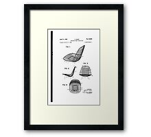 Eames - Wire Chair - Patent Artwork Framed Print