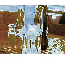 Empty glass abstract. Photographic Print